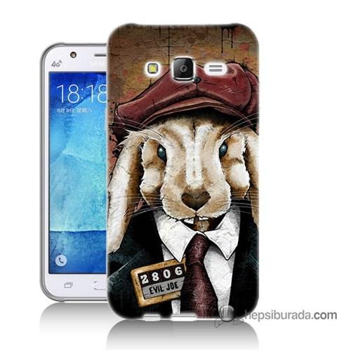 Teknomeg Samsung Galaxy J5 Kapak Kılıf Kötü Tavşan Baskılı Silikon