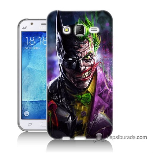 Teknomeg Samsung Galaxy J7 Kılıf Kapak Batman Vs Joker Baskılı Silikon