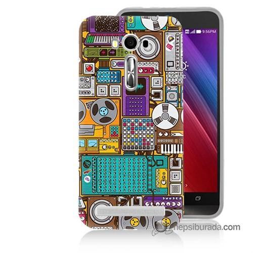 Teknomeg Asus Zenfone Laser 5.0 Kılıf Kapak Teknoloji Baskılı Silikon