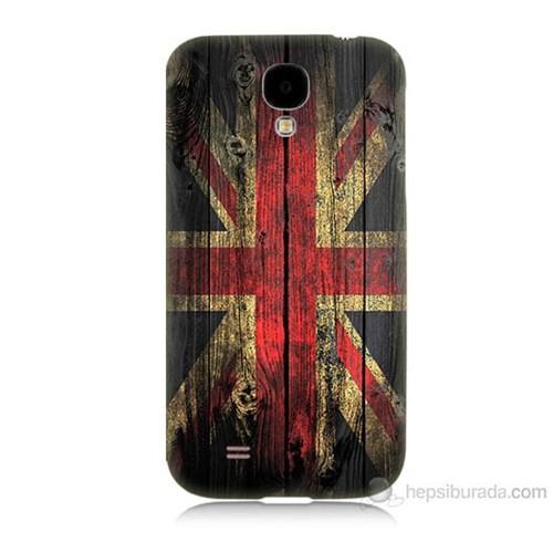 Teknomeg Samsung Galaxy S4 İngiliz Bayrağı Baskılı Silikon Kılıf