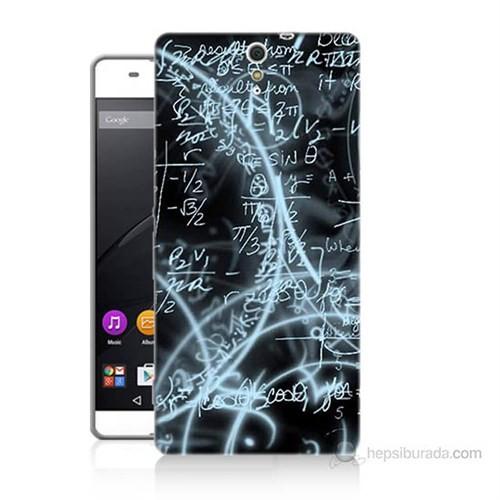 Teknomeg Sony Xperia C5 Matematik Baskılı Silikon Kılıf