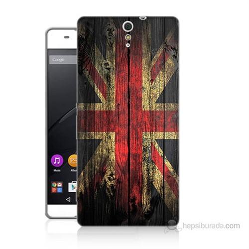 Teknomeg Sony Xperia C5 İngiliz Bayrağı Baskılı Silikon Kılıf