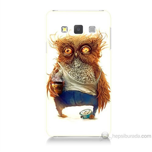 Teknomeg Samsung Galaxy A7 Miskin Baykuş Baskılı Silikon Kılıf
