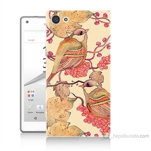 Teknomeg Sony Xperia Z5 Kuşlar Baskılı Silikon Kılıf