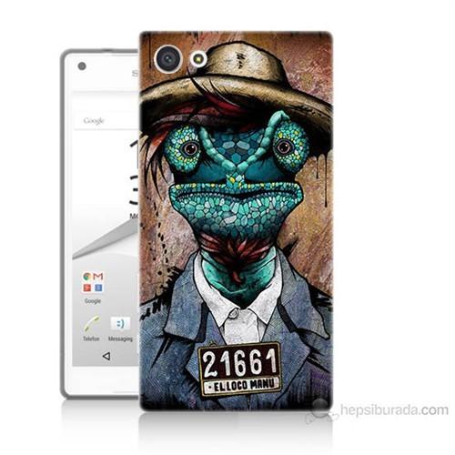 Teknomeg Sony Xperia Z5 İguana Adam Baskılı Silikon Kılıf