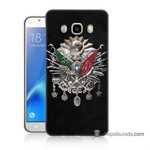 Teknomeg Samsung J7 2016 Kapak Kılıf Osmanlı Baskılı Silikon
