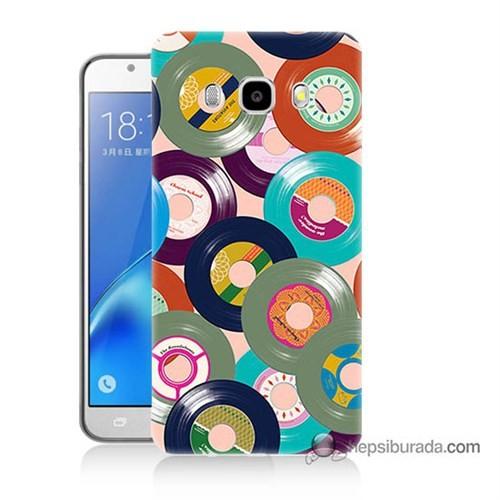 Teknomeg Samsung J7 2016 Kapak Kılıf Renkli Plaklar Baskılı Silikon