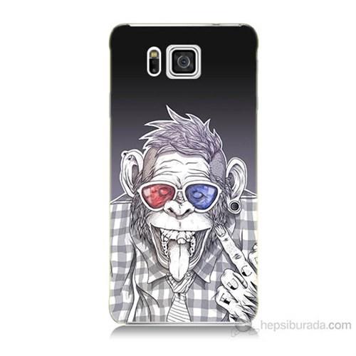 Teknomeg Samsung Galaxy Alpha G850 Maymun Baskılı Silikon Kılıf