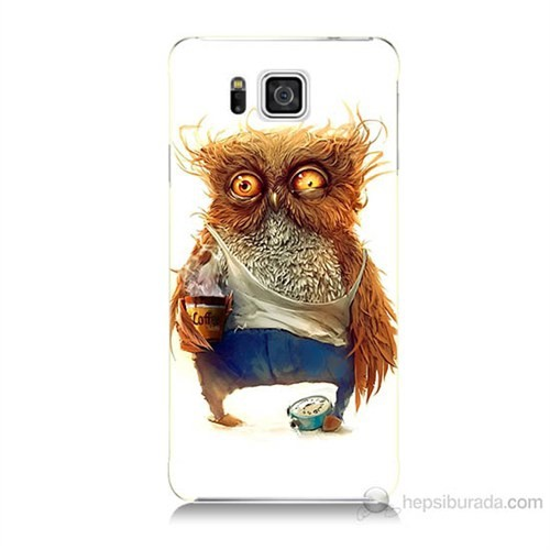 Teknomeg Samsung Galaxy Alpha G850 Miskin Baykuş Baskılı Silikon Kılıf