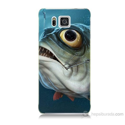 Teknomeg Samsung Galaxy Alpha G850 Balık Baskılı Silikon Kılıf