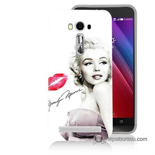 Teknomeg Asus Zenfone Laser 5.5 Kapak Kılıf Marilyn Monroe Baskılı Silikon