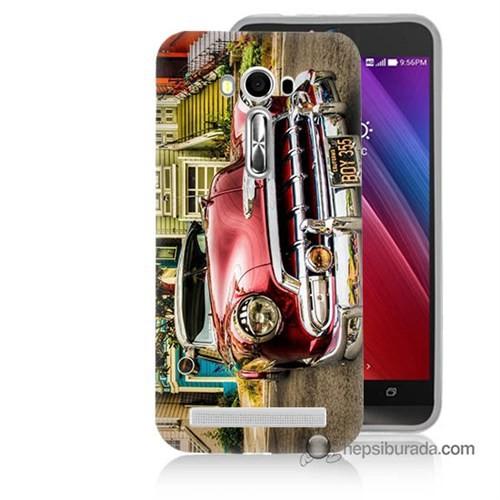 Teknomeg Asus Zenfone Laser 5.5 Kapak Kılıf Klasik Araba Baskılı Silikon