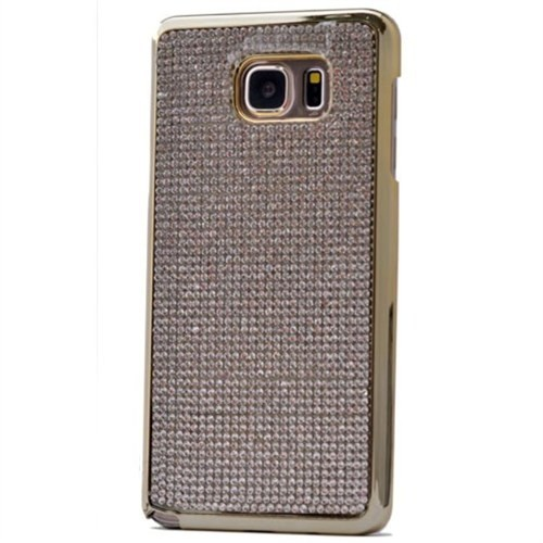 Teleplus Samsung Galaxy Note 5 Taşlı Kapak Kılıf Gri