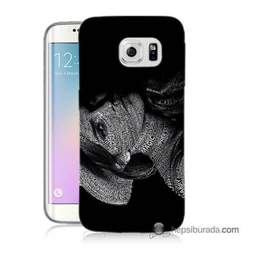 Teknomeg Samsung Galaxy S6 Edge Plus Kılıf Kapak Yazılı Kadın Baskılı Silikon