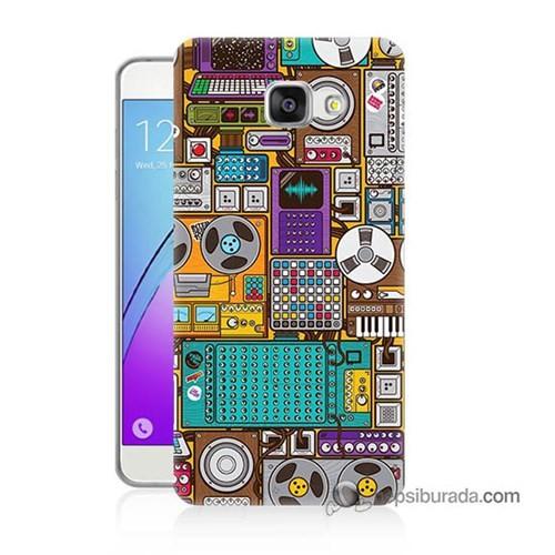 Teknomeg Samsung Galaxy A3 2016 Kılıf Kapak Teknoloji Baskılı Silikon