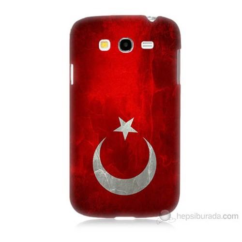 Teknomeg Samsung Galaxy Grand Neo İ9060 Türkiye Bayrağı Baskılı Silikon Kılıf