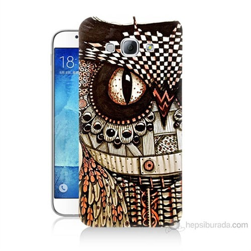 Teknomeg Samsung Galaxy A8 Kapak Kılıf Baykuş Baskılı Silikon