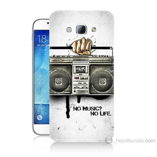 Teknomeg Samsung Galaxy A8 Kapak Kılıf Müzik Hayattır Baskılı Silikon