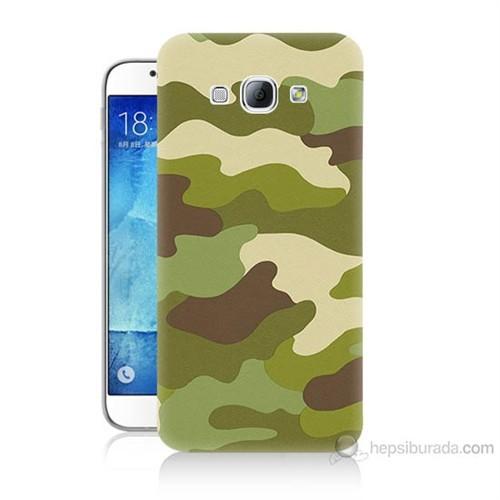 Teknomeg Samsung Galaxy A8 Kapak Kılıf Kamufulaj Baskılı Silikon