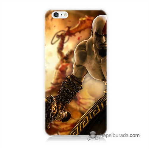 Teknomeg İphone 6 Kapak Kılıf God Of War Baskılı Silikon