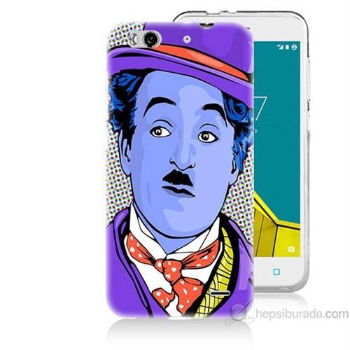 Teknomeg Vodafone Smart 6 Charlie Chaplin Baskılı Silikon Kapak Kılıf