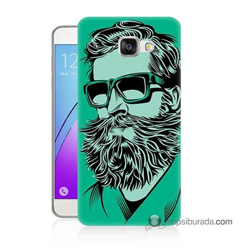 Teknomeg Samsung Galaxy A3 2016 Kılıf Kapak Beard Art Baskılı Silikon