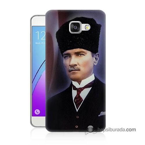 Teknomeg Samsung Galaxy A5 2016 Kılıf Kapak Mustafa Kemal Atatürk Baskılı Silikon