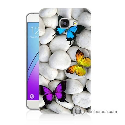 Teknomeg Samsung Galaxy A5 2016 Kılıf Kapak Kelebekler Baskılı Silikon