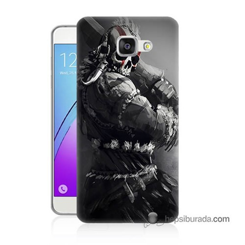 Teknomeg Samsung Galaxy A5 2016 Kılıf Kapak Tribal Warrior Baskılı Silikon