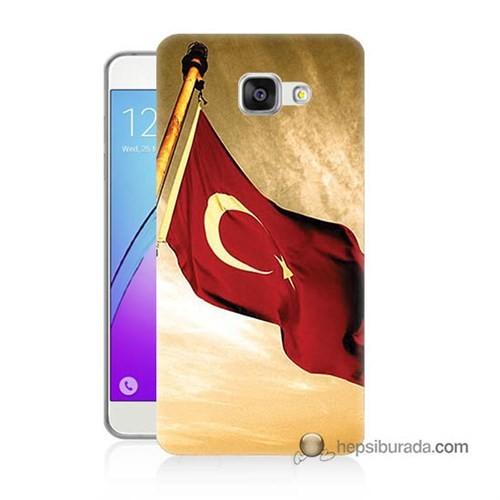 Teknomeg Samsung Galaxy A5 2016 Kılıf Kapak Türk Bayrağı Baskılı Silikon