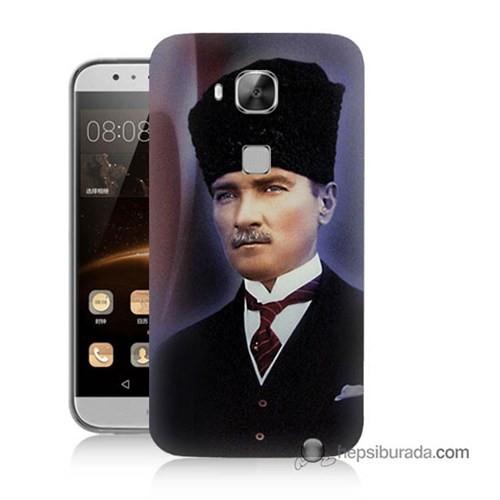 Teknomeg Huawei Ascend G8 Kılıf Kapak Mustafa Kemal Atatürk Baskılı Silikon