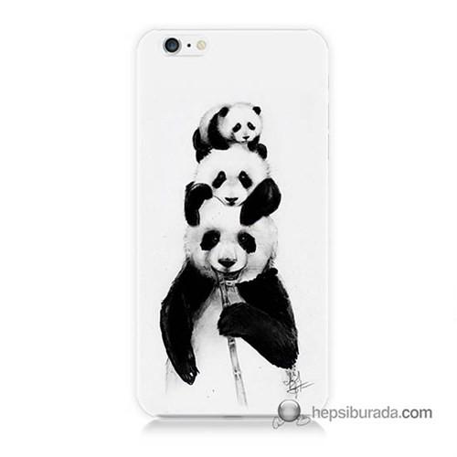 Teknomeg İphone 6 Plus Kapak Kılıf Panda Ailesi Baskılı Silikon