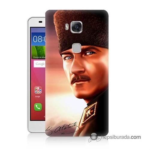 Teknomeg Huawei Gr5 Kapak Kılıf Mustafa Kemal Baskılı Silikon
