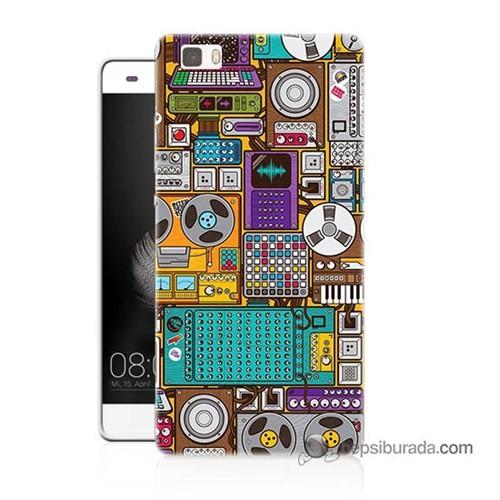 Teknomeg Huawei P8 Lite Kılıf Kapak Teknoloji Baskılı Silikon