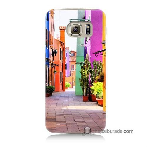Teknomeg Samsung Galaxy S6 Kılıf Kapak Sokak Baskılı Silikon