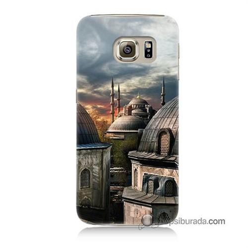 Teknomeg Samsung Galaxy S6 Kapak Kılıf Cami Baskılı Silikon