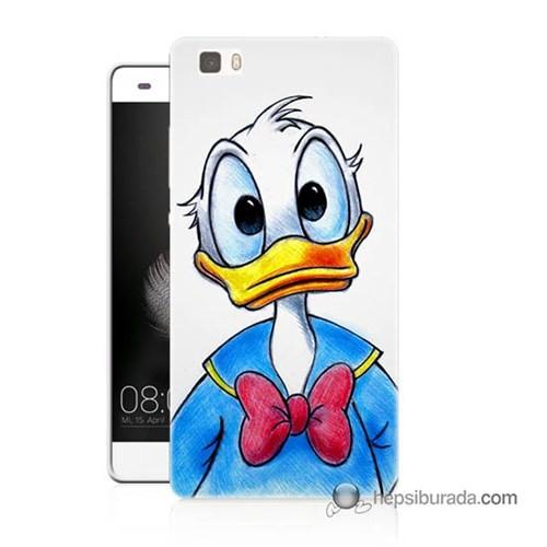 Teknomeg Huawei P8 Lite Kapak Kılıf Donald Duck Baskılı Silikon