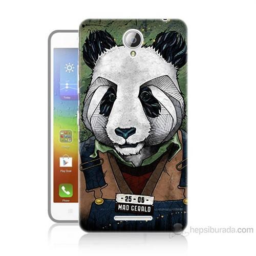 Teknomeg Lenovo A5000 İşçi Panda Baskılı Silikon Kılıf