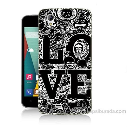 Teknomeg General Mobile Discovery 2 Mini Love Baskılı Silikon Kapak Kılıf