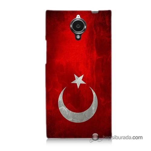 Teknomeg General Mobile Discovery Elite Kılıf Kapak Türkiye Bayrağı Baskılı Silikon