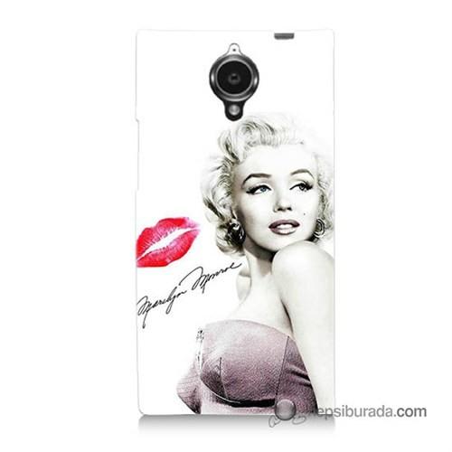 Teknomeg General Mobile Discovery Elite Kapak Kılıf Marilyn Monroe Baskılı Silikon