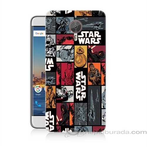 Teknomeg General Mobile Discovery Gm5 Plus Star Wars Baskılı Silikon Kapak Kılıf