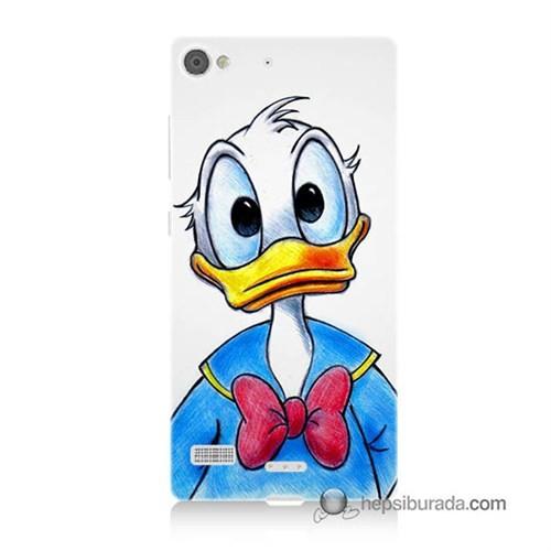 Teknomeg Lenovo Vibe X2 Kapak Kılıf Donald Duck Baskılı Silikon