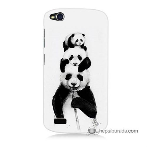 Teknomeg General Mobile Discovery Kapak Kılıf Panda Ailesi Baskılı Silikon