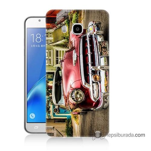 Teknomeg Samsung J7 2016 Kapak Kılıf Klasik Araba Baskılı Silikon