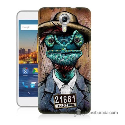 Teknomeg General Mobile 4G Android One Kılıf Kapak İguana Adam Baskılı Silikon