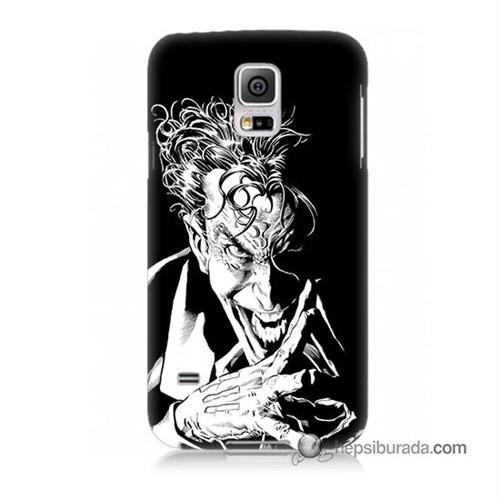 Teknomeg Samsung Galaxy S5 Kapak Kılıf Gülen Joker Baskılı Silikon