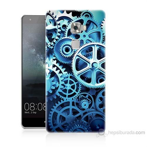Teknomeg Huawei Ascend Mate S Çarklar Baskılı Silikon Kılıf