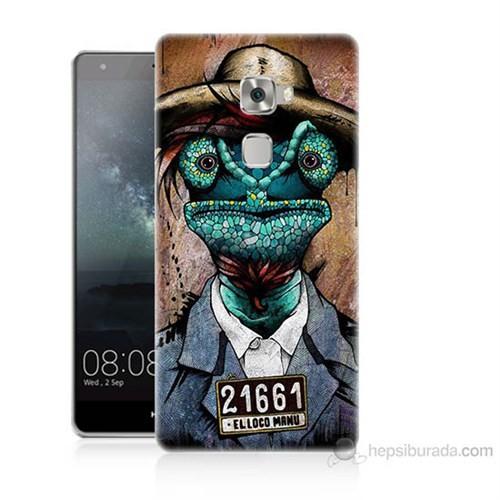 Teknomeg Huawei Ascend Mate S İguana Adam Baskılı Silikon Kılıf