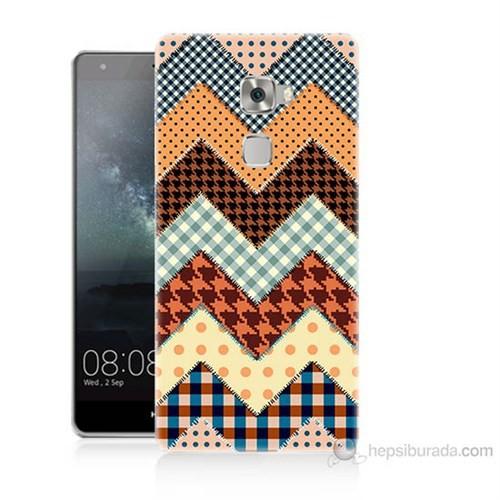 Teknomeg Huawei Ascend Mate S Patchwork Baskılı Silikon Kılıf